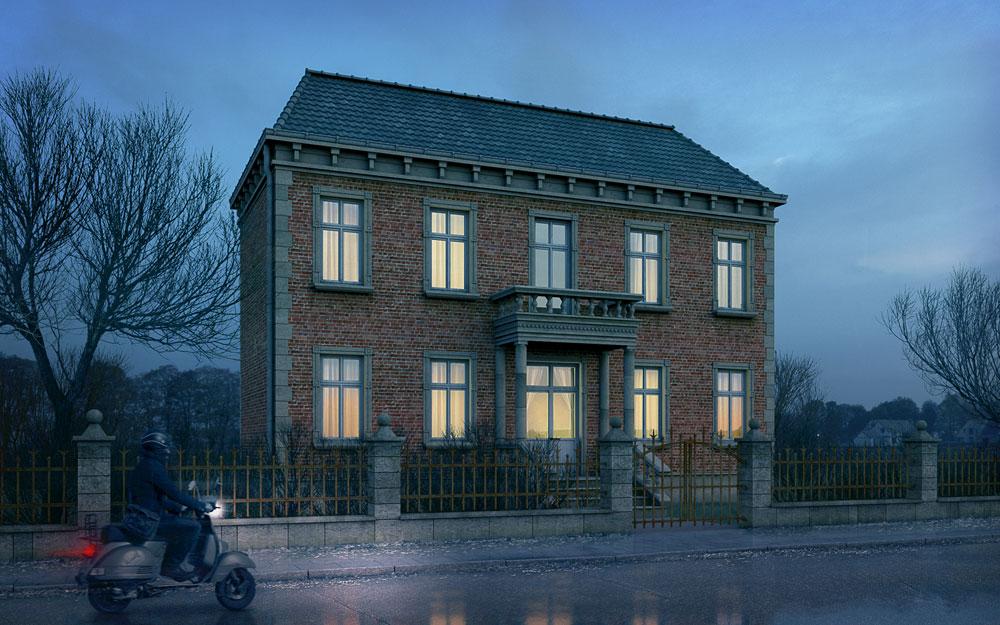 Alte Stadtvilla, Visualisierung, ARCHMODELL