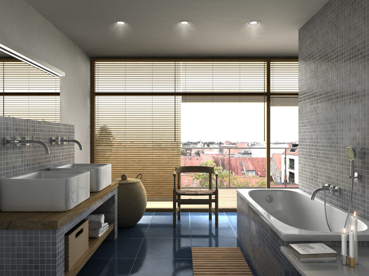 Badezimmer, ARCHMODELL, Architekturillustration