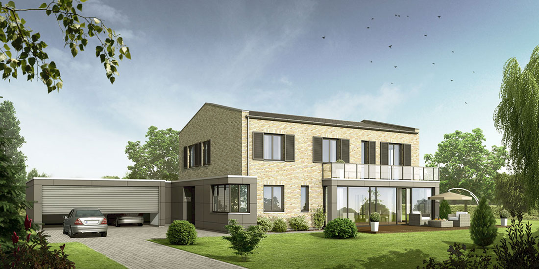 Einfamilienhaus im Emsland, ARCHMODELL, Architekturvisualisierung