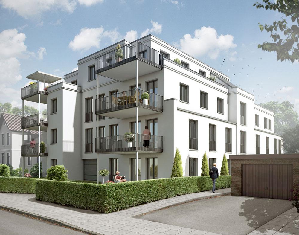Wohnhaus Elisabethstraße Lübeck, ARCHMODELL, Architekturillustration