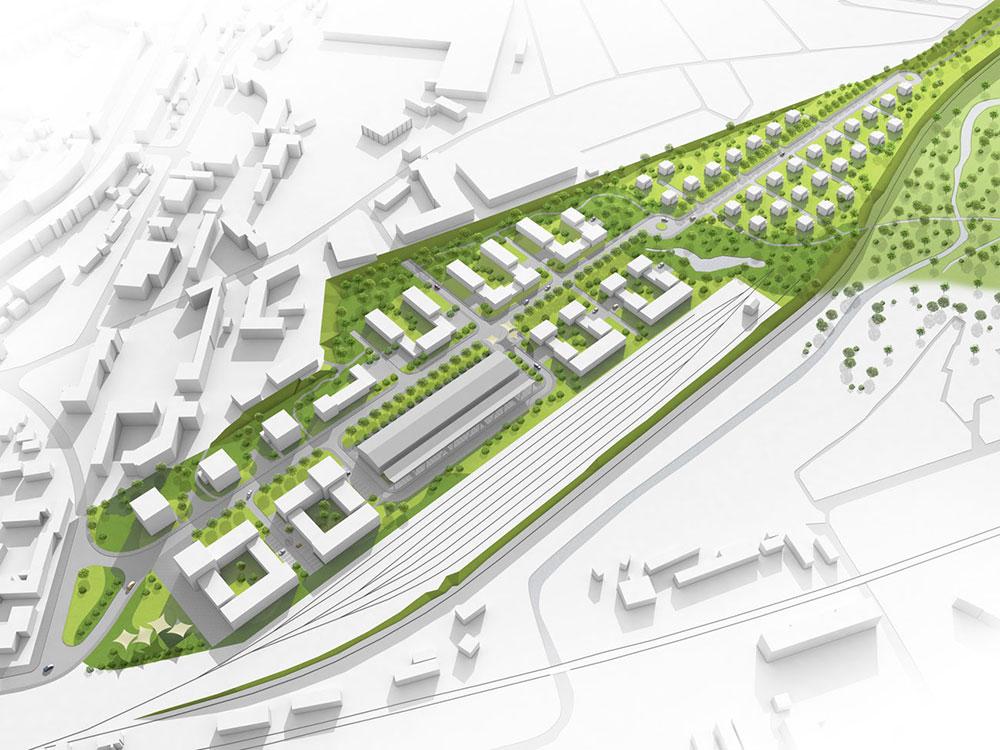 Güterbahnhof Schwerin, ARCHMODELL, Architekturvisualisierung