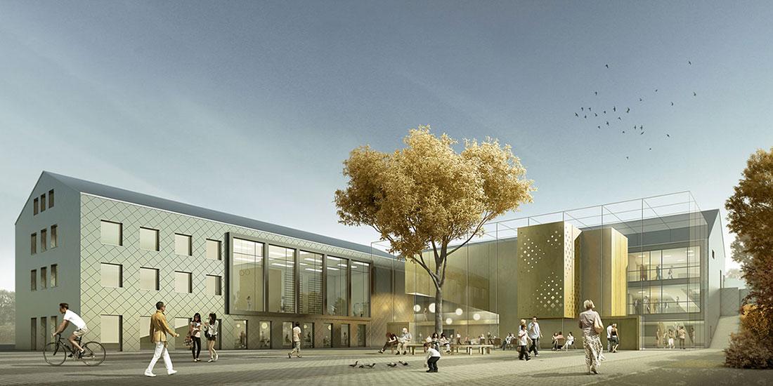 Kultureller Marktplatz Hilchenbach, ARCHMODELL, Wettbewerbsvisualisierung
