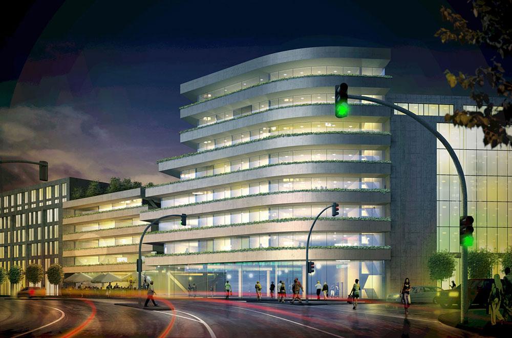 Architekturvisualisierung, Hochhaus, ARCHMODELL