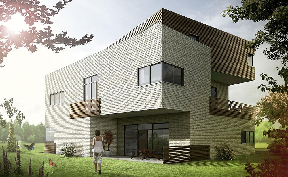 Einfamilienhaus, ARCHMODELL, Architekturillustration