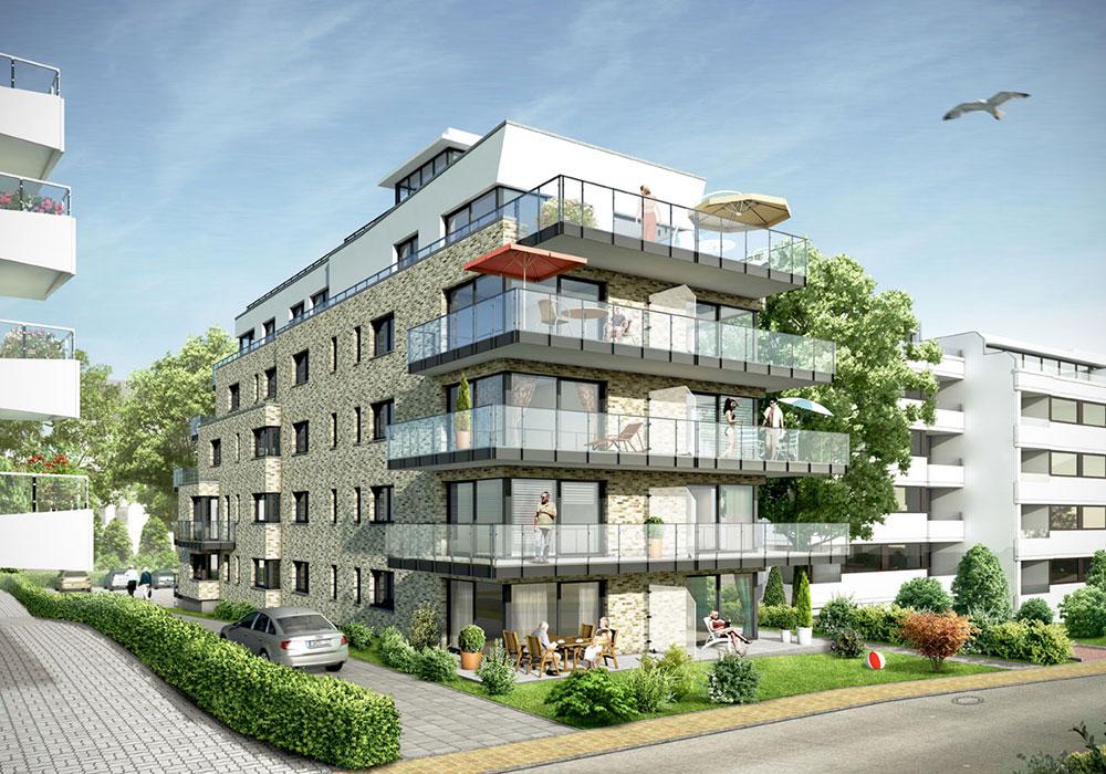 Mehrfamilienhaus Scharbeutz, ARCHMODELL, Architekturvisualisierung