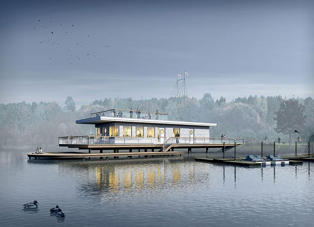 Voerder Pier Cafe, ARCHMODELL, Architekturvisualisierung