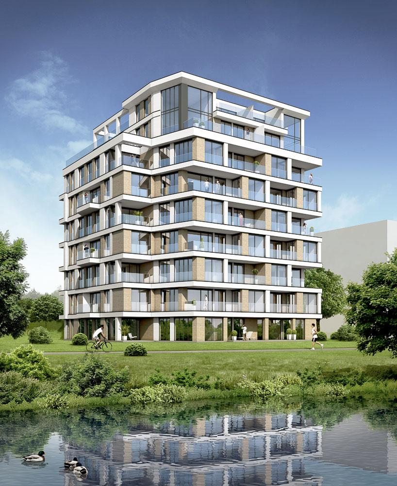 Wohnhaus Q1 Schwerin, ARCHMODELL, 3D-Visualisierung