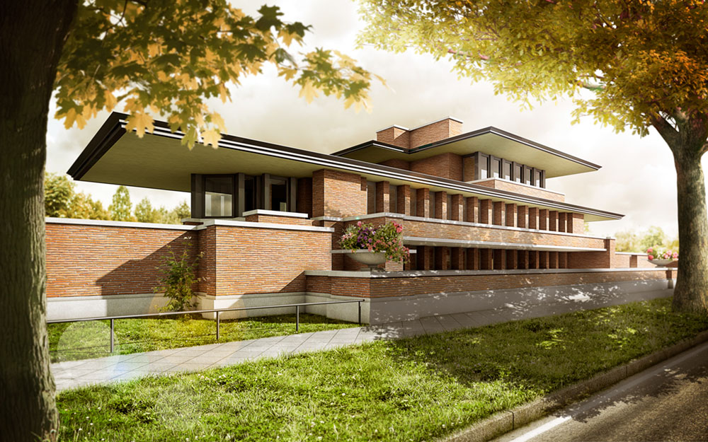 Robie House,Frank Lloyd Wright, Visualisierung