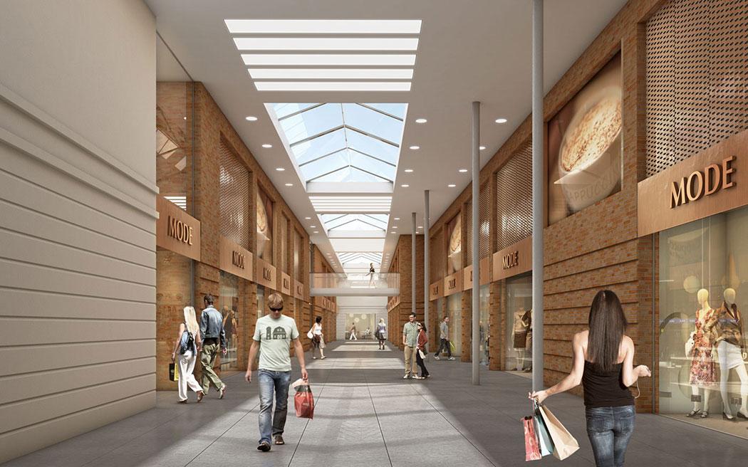 Einkaufszentrum Heide Innenperspektive, ARCHMODELL, Innenraumvisualisierung