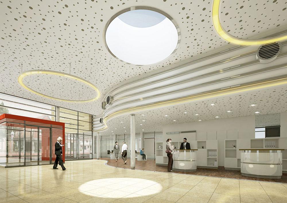 Sparkasse Gnarrenburg / Stelling - Architekt / Innenraumvisualisierung / Wettbewerb 1.Platz