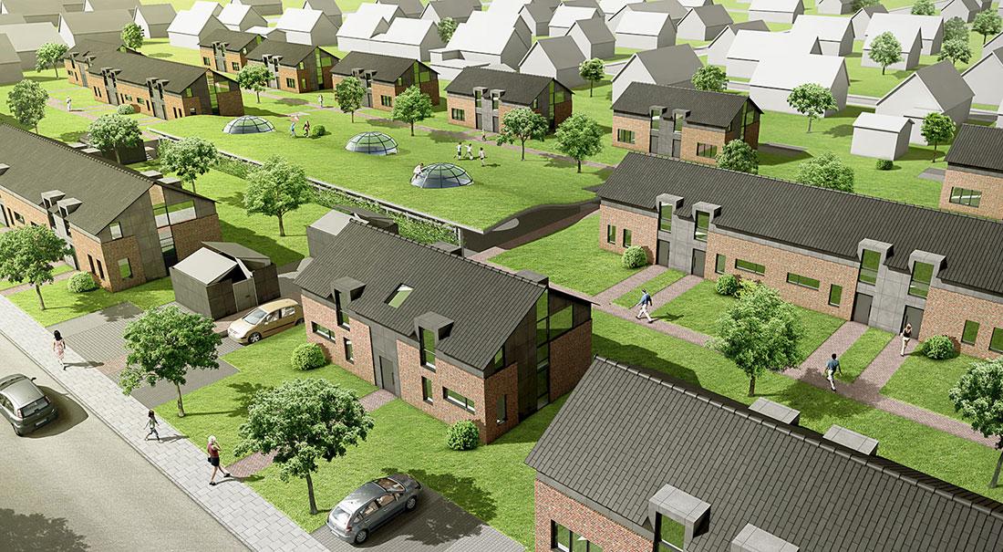 Städtebaulicher Wettbewerb Stade, ARCHMODELL, 3D-Visualisierung