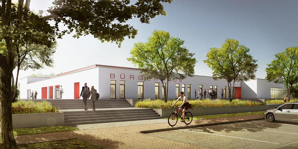 Voerder Buergerhaus- Mainz, ARCHMODELL, Architekturvisualisierung