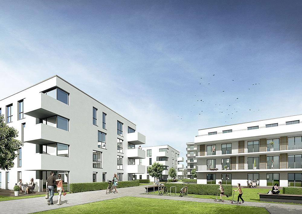 Städtebaulicher Wettbewerb Ludwigsburg, Architekturvisualisierung, ARCHMODELL