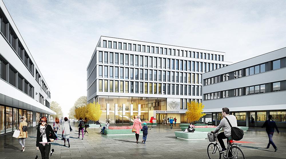 Rathhaus Holzwickede, Wettbewerbsvisualisierung, ARCHMODELL