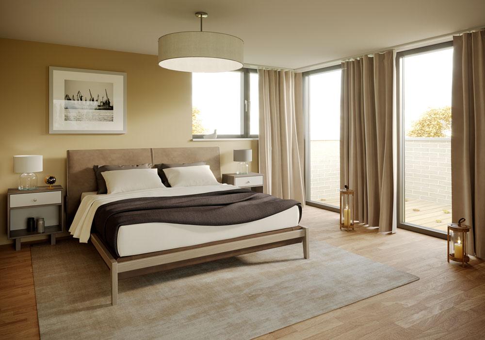 Schlafzimmer, Visualisierung, ARCHMODELL