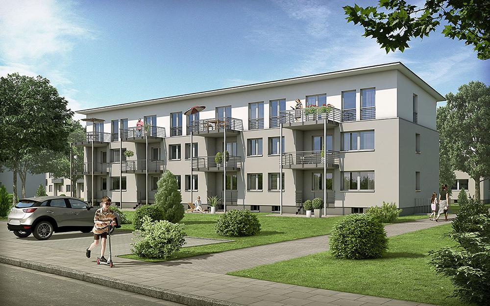 Wohnhaus Vonovia, ARCHMODELL, Architekturillustration